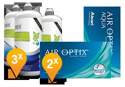 Air Optix Aqua + EyeDefinition Sensitive Plus