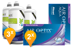 Air Optix Aqua Multifocal + EyeDefinition Sensitive Plus