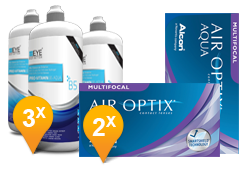 Air Optix Aqua Multifocal + EyeDefinition Pro-Vitamin B5