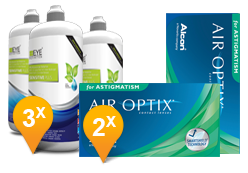 Air Optix for Astigmatism + EyeDefinition Sensitive Plus