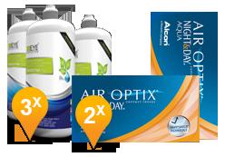 Air Optix Night & Day Aqua + EyeDefinition Sensitive Plus