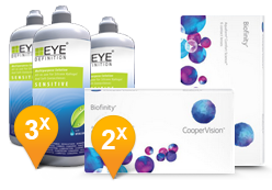 Biofinity + EyeDefinition Sensitive Plus