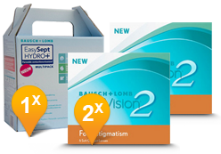 PureVision 2 for Astigmatism + Easysept Hydro Plus