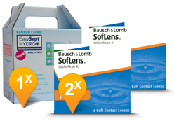 SofLens Toric for Astigmatism + EasySept Hydro Plus