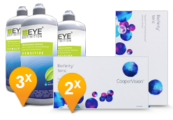 Biofinity toric + EyeDefinition Sensitive Plus