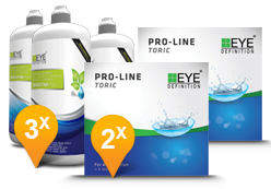 EyeDefinition Pro-Line Toric + Sensitive Plus