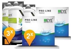 EyeDefinition Pro-Line Toric + Sensitive Plus
