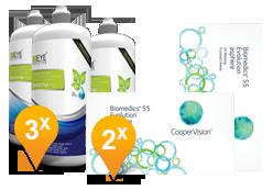 Biomedics 55 Evolution + EyeDefinition Sensitive Plus