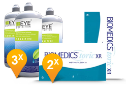 Biomedics Toric XR + EyeDefinition Sensitive plus