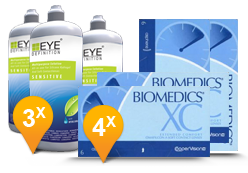 Biomedics XC + EyeDefinition Sensitive Plus