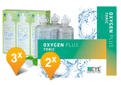 EyeDefinition Oxygen Plus Toric + BioTrue soluzione