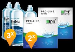 EyeDefinition Pro-Line Toric + ReNu MultiPlus