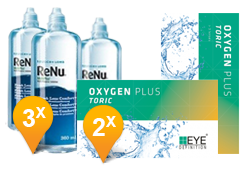 EyeDefinition Oxygen Plus Toric + ReNu MultiPlus