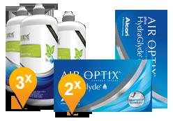 Air Optix Plus Hydraglyde + EyeDefinition Sensitive Plus