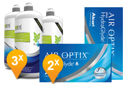 Air Optix Plus Hydraglyde + EyeDefinition Sensitive Plus