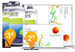Proclear Multifocal Toric + EyeDefinition Sensitive Plus