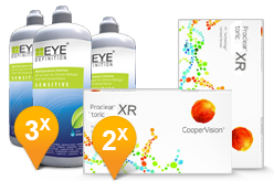 Proclear Toric XR + EyeDefinition Sensitive Plus