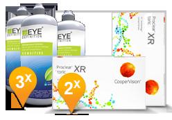 Proclear Toric XR + EyeDefinition Sensitive Plus
