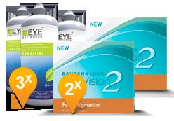 PureVision 2 for Astigmatism + EyeDefinition Sensitive Plus
