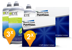 PureVision Multifocal + EyeDefinition Sensitive Plus