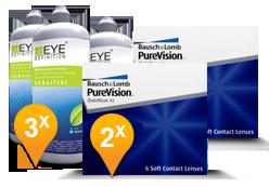 Purevision Toric + EyeDefinition Sensitive Plus