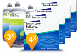 Soflens 38 + EyeDefinition Sensitive Plus