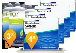 Soflens 38 + EyeDefinition Sensitive Plus