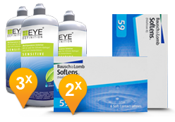 SofLens 59 + EyeDefinition Sensitive Plus