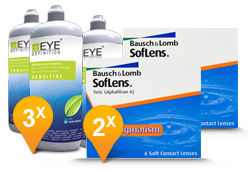 SofLens Toric for Astigmatism + EyeDefinition Sensitive Plus