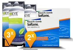 SofLens Toric for Astigmatism + EyeDefinition Sensitive Plus