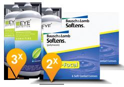 Soflens Multifocal + EyeDefinition Sensitive Plus