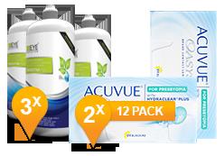 Acuvue Oasys for Presbyopia + EyeDefinition Sensitive Plus