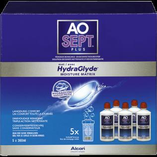 Aosept Plus con HydraGlyde Confezione semestrale (5x360ml)
